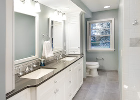 Bathroom Cabinets in a Remodeled Bathroom