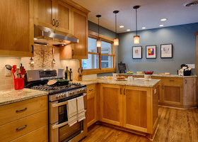 Kitchen Cabinets in a Remodeled Home