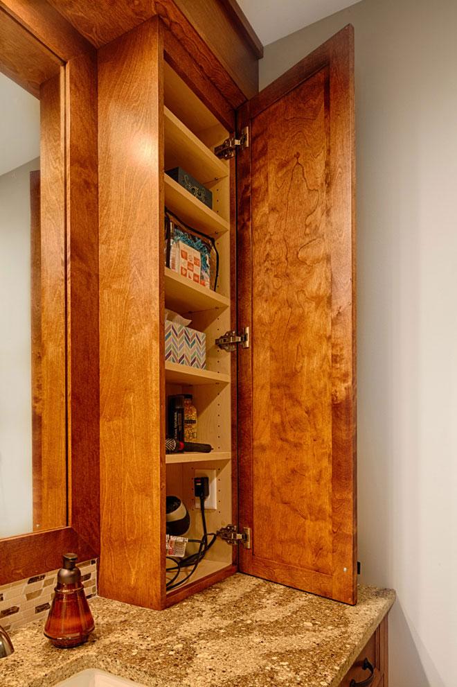 Wooden Bathroom Sink top cabinets