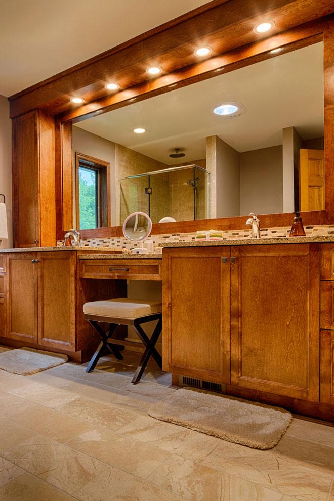 Wood Bathroom Cabinets with Vanity