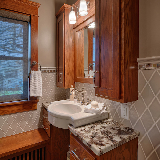 Bathroom Cabinet Home Remodeling Project