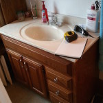 Before Bathroom Remodeling Project