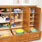 Basement Cabinets Perfect for Storing Toys