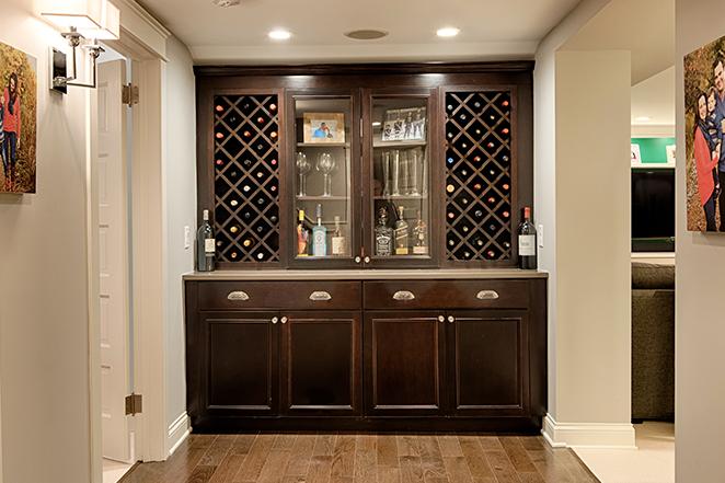 Remodeled Bar Cabinets