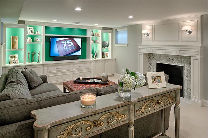 Remodeled Living Room in Edina