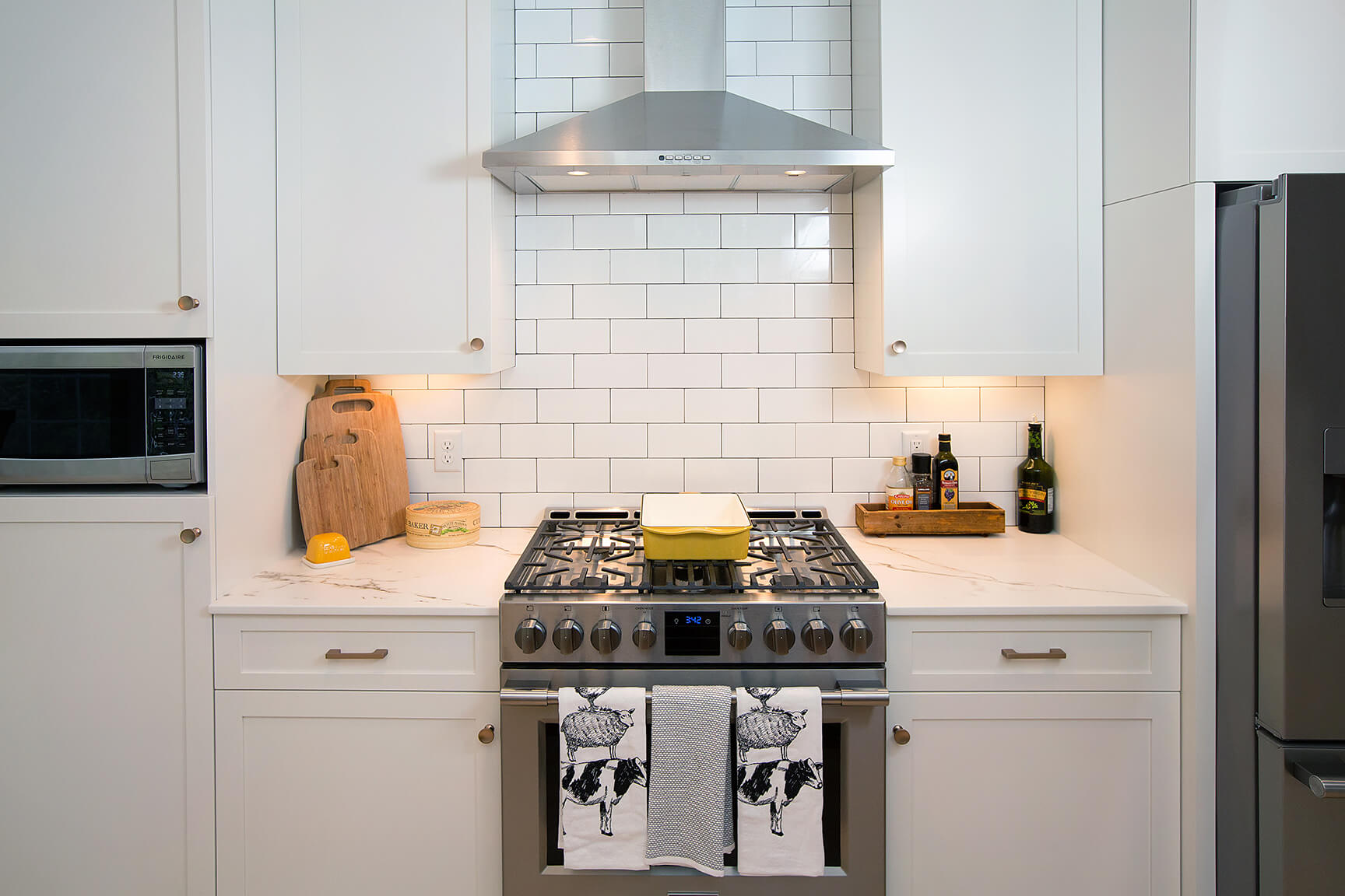 New White Kitchen With Marble Counters 0008