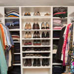 Newly Installed Walk in Closet with Shelving